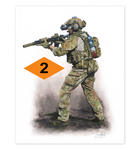2nd Ranger Battalion Art Print