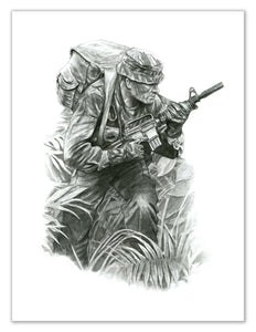 """The Professional"" Billy Waugh MACVSOG Special Forces Portrait"