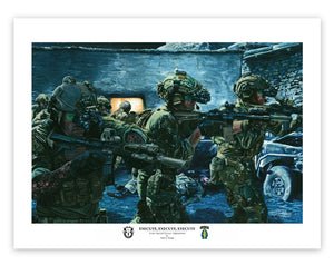 """Execute, Execute, Execute"" Special Forces in Afghanistan Giclee Print"