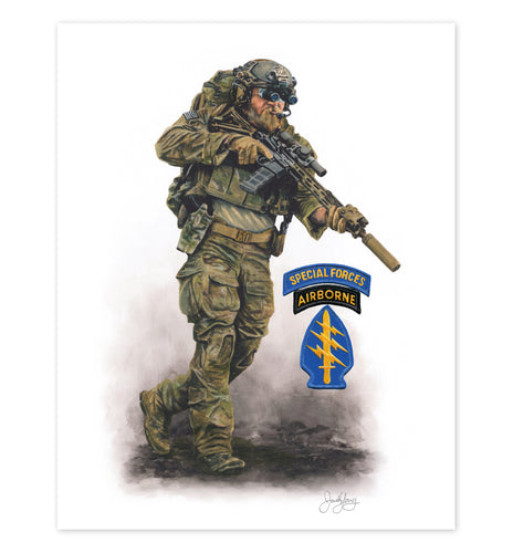 Army Special Forces Art Print