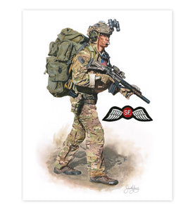 """The Quiet Professional"" Special Forces Art Print (Jedburgh)"