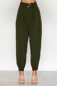 Olive High Waisted Pants
