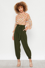 Load image into Gallery viewer, Olive High Waisted Pants