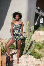 Load image into Gallery viewer, tropical belted romper