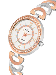 Duke Analog Rose Gold Wrist Watch for Woman and Girls- DK7006RW02C