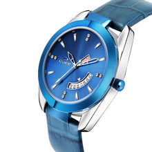 Load image into Gallery viewer, Duke Analog Day & Date Blue Leather Strap Watch for Men's and Boys