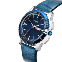 Load image into Gallery viewer, Duke Analog Blue Men's Watch with Leather band for Business,Casual