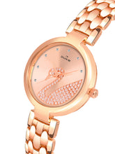 Load image into Gallery viewer, Duke Analog Metal Strap Rose Gold Wrist Watch for Woman and Girls- DK7009RW02C