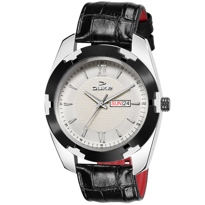 Duke Black Analogue Casual Watch for Men/Boys with Leather Belt