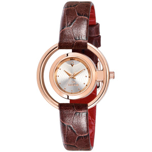 Duke Silver Dial Women Watch Business Casual Quartz Watches for Girl's