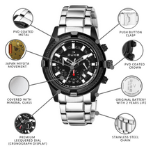 Load image into Gallery viewer, Duke Stainless Steel Strap Chronograph Men's Watch-(DK4002CRM02C)