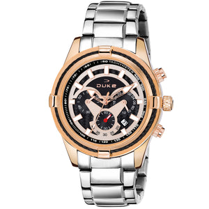 Duke Stainless Steel Strap Chronograph Rose Gold Men's Watch-(DK4003CRM02C)