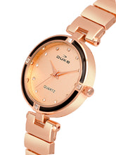 Load image into Gallery viewer, Duke Analog Rose Gold Wrist Watch for Woman and Girls- DK7015RW02C