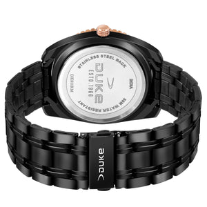 Duke Men's Black Analog Watch for Mens and Boys