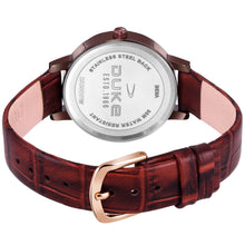Load image into Gallery viewer, Duke Round Dial Analog Brown Leather Strap Watches for Women & Girl's