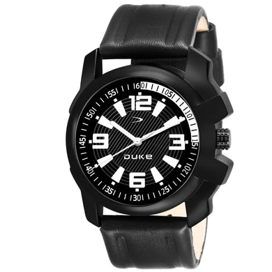 Duke Analogue Black Dial Men's & Boy's Quartz Watch