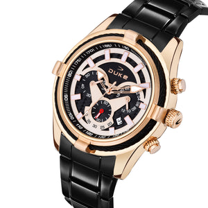 Duke Stainless Steel Strap Chronograph Rose Gold Men's Watch-(DK4006CRM02C)