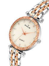 Load image into Gallery viewer, Duke Analog Metal Strap Rose Gold Wrist Watch for Woman and Girls- DK7008RW02C