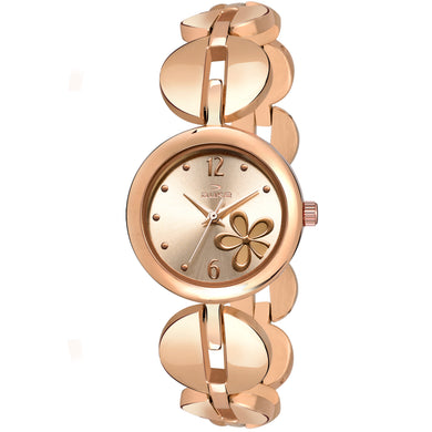 Duke Analog Rosegold Dial Women Watch Business Casual Watches for Girl's