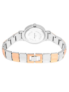 Duke Analog Metal Strap Rose Gold Wrist Watch for Woman and Girls- DK7012RW02C