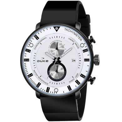 Duke Chronograph Men's Watch with PU Leather Strap