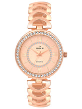 Load image into Gallery viewer, Duke Analog Metal Strap Rose Gold Wrist Watch for Woman and Girls- DK7005RW02C