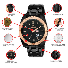 Load image into Gallery viewer, Duke Men's Black Analog Watch for Mens and Boys