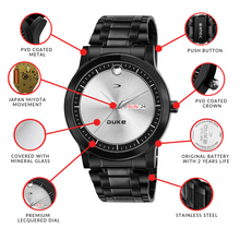 Load image into Gallery viewer, Duke Silver Stainless Steel Party Wear Analog for Mens/Boys