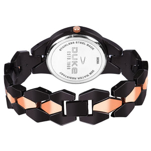 Duke Analog Metal Strap Casual Wrist Watch for Woman and Girls