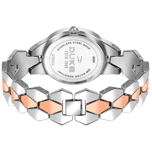 Duke Metal Strap, Steel and Rose Gold Ladies Watch for Woman and Girls