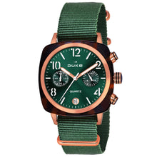 Load image into Gallery viewer, Duke Nylon Strap Chronograph Green Wrist Watch for Woman and Girls