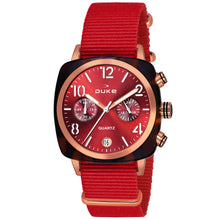 Load image into Gallery viewer, Duke Nylon Strap Chronograph Red Wrist Watch for Woman and Girls