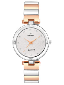 Duke Analog Rose Gold Wrist Watch for Woman and Girls- DK7016RW02C