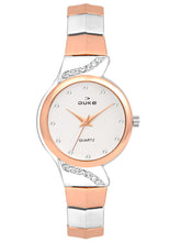 Load image into Gallery viewer, Duke Analog Metal Strap Rose Gold Wrist Watch for Woman and Girls- DK7012RW02C