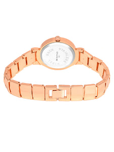 Duke Analog Metal Strap Rose Gold Wrist Watch for Woman and Girls- DK7011RW02C