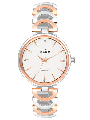 Duke Analog Rose Gold Wrist Watch for Woman and Girls- DK7014RW02C