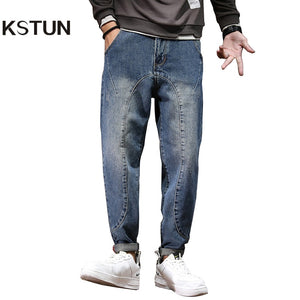 Harem Pants Men Wide Leg Pants Male Loose Fit Fashion Pockets Desinger Tapered Men's Trousers Casual Guinness For Men Large Jean