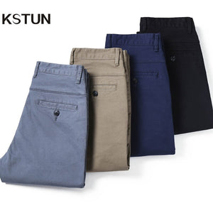 KSTUN 2020 Spring Summer New Casual Pants Men Cotton Slim Fit Chinos Fashion Trousers Male Brand Clothing Basic Mens Pants