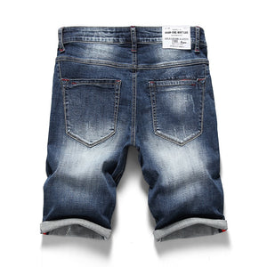 KSTUN 2020 Summer New Men's Stretch Short Jeans Fashion Casual Slim Fit High Quality Elastic Denim Shorts Male Brand Clothes