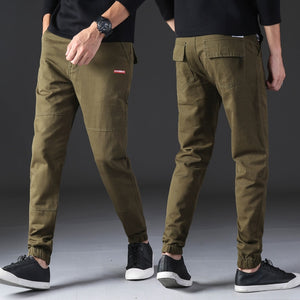 KSTUN Casual Mens Pants Slim Fit Casual Pants Sweatpants Joggers Solid Gray Khaki Men Trousers Fashion Brand