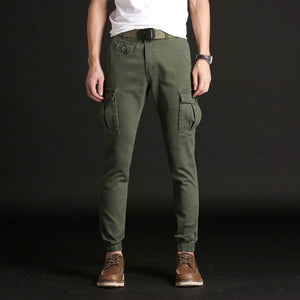 KSTUN Casual Pants Men Stretch Cargo Pants Military Tactical Joggers Side Pocket Fashions Black Green Male Trousers Top Quality