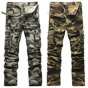 KSTUN Cotton Cargo Pants Men Tactical Military Overalls Camouflage Pants Casual Pants Man Trousers Top Quality Brand NO belt