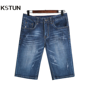KSTUN Denim Short Men Jeans Good Quality Shorts Jeans Men Cotton Slim Straight Fashion New Cowboys Male Blue Casual Jean Homme