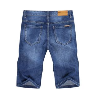 KSTUN Men's Jeans Shorts Stretch Light Blue Fashoin Brand Slim Fit Summer Denim Pants Male Jeans Shorts High Quality Jeans Homme