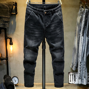 KSTUN Mens Jeans Black Elasticity Haren Pants Relaxed Tapered Loose Fit Baggy Men Pants Casual Trousers Jeans Homme Plus Size 42