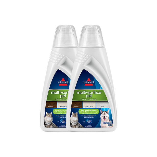 BISSELL Twin Pack Multi-Surface Pet Cleaning Formula For CrossWave & SpinWave 2531