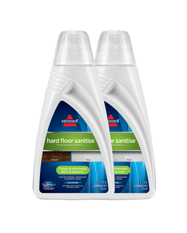 Twin Pack Crosswave & SpinWave Sanitise Cleaning Formula (1L)