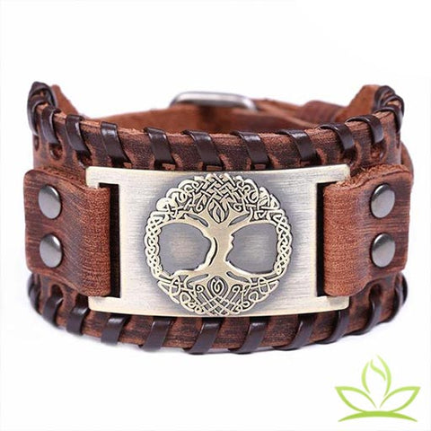 bracelet viking en arbre celtique