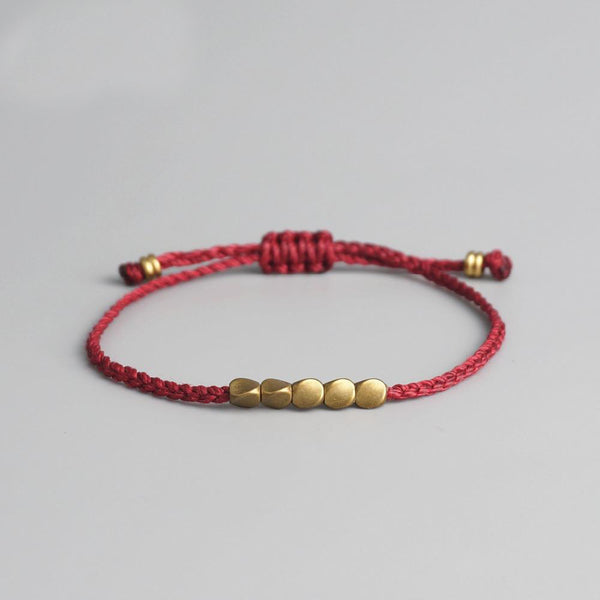 Bracelet Tibetain Or - Bracelet Chakra Shop