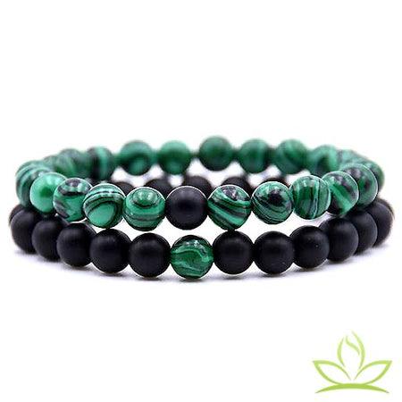 Bracelet Couple | Malachite - Bracelet Chakra Shop